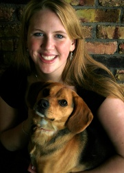 Kyann with dog